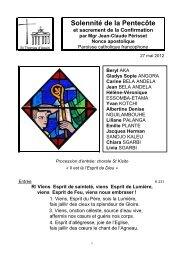 Solennité de la Pentecôte - Paroisse Catholique Francophone de ...