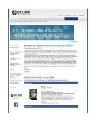 CSEP - February 2011 Student Newsletter - Canadian Society for ...