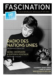 RADIO DES NATIONS UNIES - United Nations Postal Administration