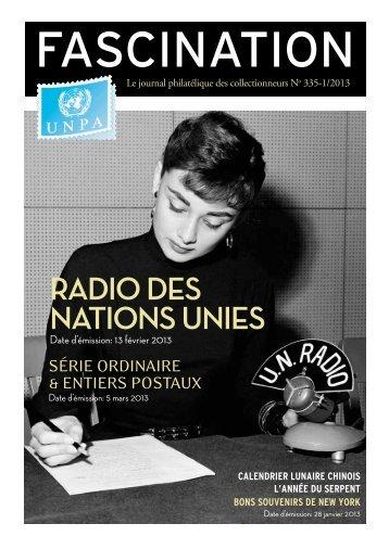RADIO DES NATIONS UNIES - United Nations Postal Administration