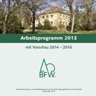 Arbeitsprogramm 2013 - BFW