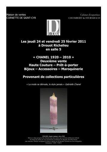 communique de presse vente chanel 24-25 fevrier 2011 - chombert ...