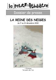 Dossier de presse - le Petit Théâtre