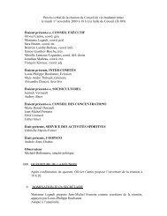 Réunion - 10 nov. 09 - Association étudiante du Cégep de Sainte-Foy