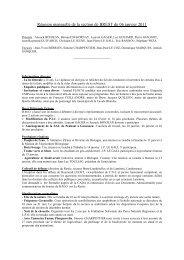 Réunion mensuelle de la section de BREST du 06 janvier 2011