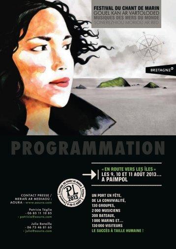 Programmation Festival du Chant de marin - Cezam Bretagne