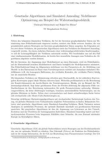 Genetische Algorithmen und Simulated Annealing: Nichtlineare ...
