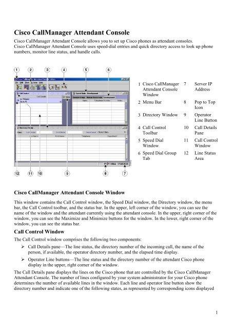Cisco CallManager Attendant Console