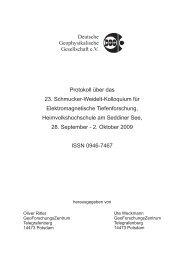 Deutsche Geophysikalische Gesellschaft e.V. ... - Bibliothek - GFZ