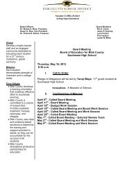 Board Meeting Board of Education for Bibb County Southwest High ...