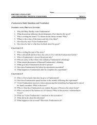 Frankenstein Study Questions - Bibb County Schools