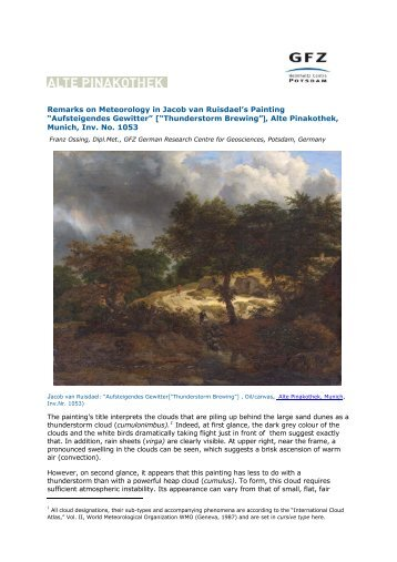 Remarks on meteorology ruisdael - GFZ