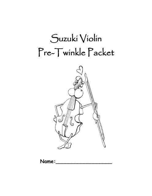 Suzuki Violin Pre-Twinkle Packet - Bibb County Schools
