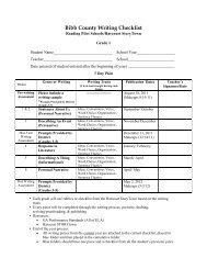 Bibb County Writing Checklist - Bibb County Schools