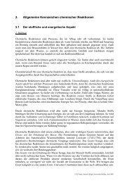 3. Allgemeine Kennzeichen chemischer Reaktionen - Justus-Liebig ...
