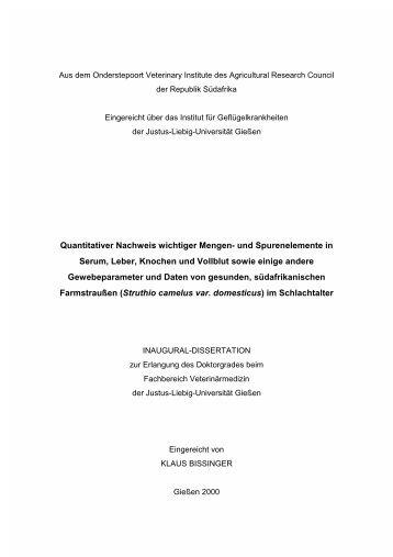 Quantitativer Nachweis wichtiger Mengen- und Spurenelemente in ...