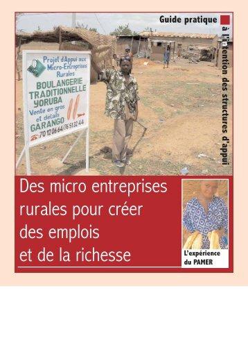 Des micro entreprises rurales pour créer des emplois et de la richesse