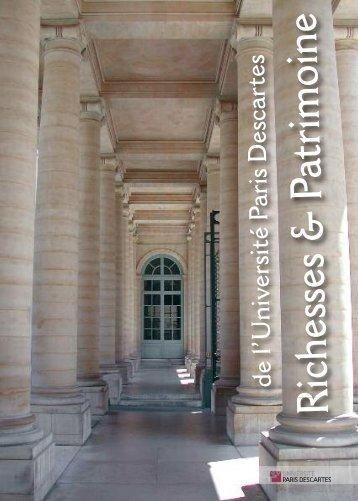 Richesses & Patrimoine de l'Université Paris Descartes