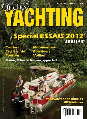 Spécial ESSAIS 2012 - Québec Yachting