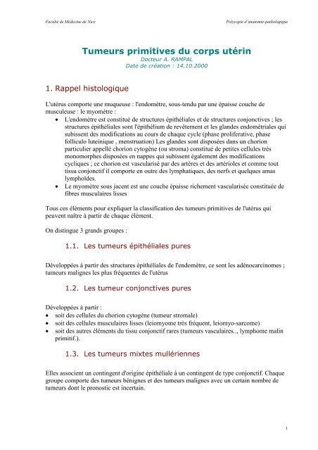 Datation de l'endomètre histologie