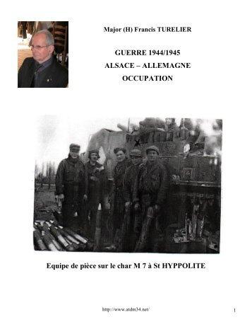 1944-1946 Les combats d'Alsace, la campagne - atdm34.net
