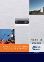 Ricochet 2U Compact Recorder (RCR2U) - Jotron