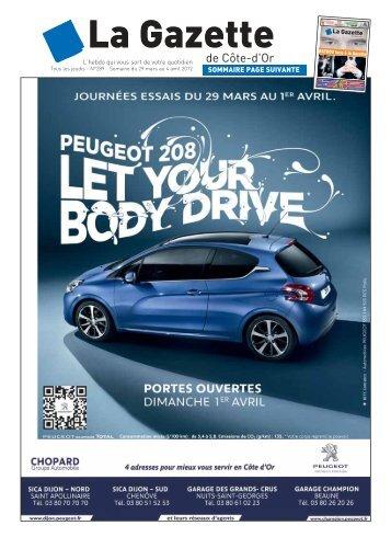 SOMMAIRE PAGE SUIVANTE - La Gazette de Côte d'Or