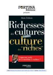 Richesses des cultures contre culture des riches - Editions Fortuna
