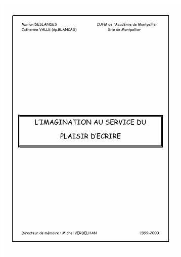 LΓIMAGINATION AU SERVICE DU PLAISIR DΓECRIRE - CRDP de l ...