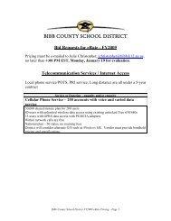 eRate Bid Specifications - due January 19, 2008 - Bibb County ...