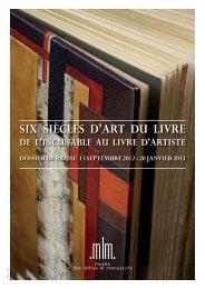 Dossier de presse - Musée des lettres et manuscrits