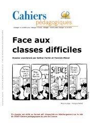 Face aux classes difficiles - Bibliothèques de l'Université de Lorraine