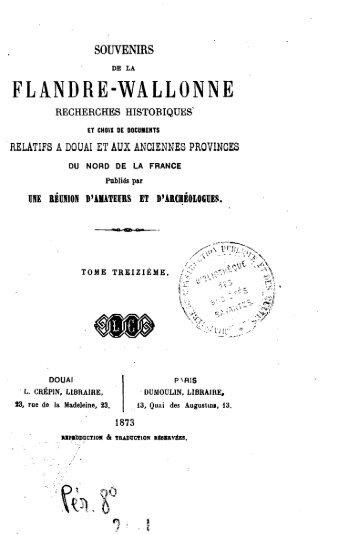 souvenirs de la flandre-wallonne recherches historiques ...