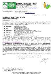 Ligue 08 – saison 2012-2013 - Comité Dauphiné Savoie de Bridge