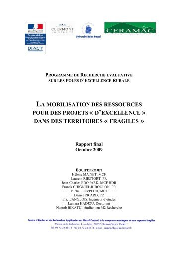 CERAMAC-PER-rapport final-2009 - Datar