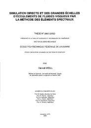 simulation directe et des grandes échelles d'écoulements de ... - EPFL