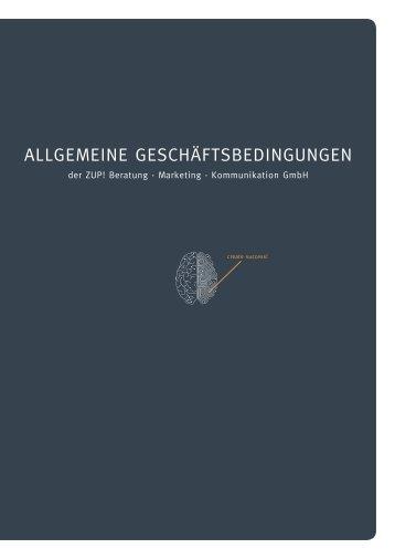 Allgemeine geschäftsbedingungen - ZUP! Beratung · Marketing ...