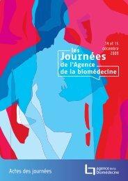 Actes des journées - Agence de la biomédecine