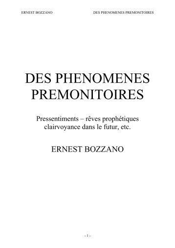 Des phénomènes prémonitoires