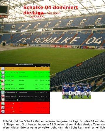 Schalke 04 dominiert die Liga