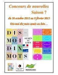 Livret nouvelles 2013 - Communauté de communes du monségurais