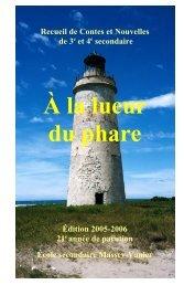 Édition 2005-2006 - École Massey-Vanier - Commission Scolaire du ...