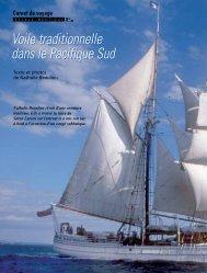 Voile traditionnelle dans le Pacifique Sud Voile ... - L'Escale Nautique