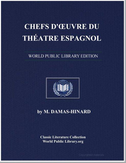 CHEFS D'ŒUVRE DU THÉATRE ESPAGNOL - World eBook Library