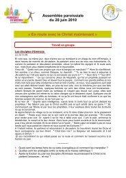 Document - Paroisse Notre Dame du Bon Conseil