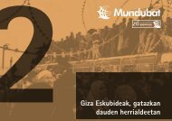 Giza eskubideak, gatazkan dauden herrialdeetan - Mundubat