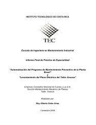 Escuela de Ingeniería en Mantenimiento Industrial Informe Final de ...