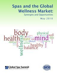 Spas and the Global Wellness Market: - Spa Australasia