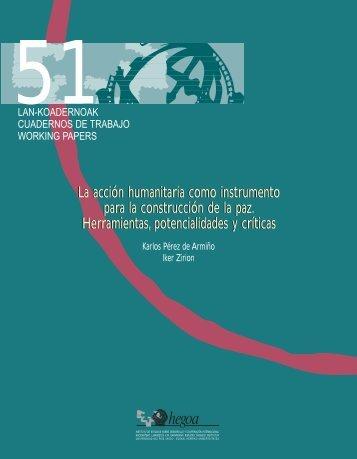 La acción humanitaria como instrumento para la construcción de la ...