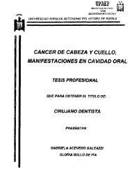 cancer de cabeza y cuello, manifestaciones en cavidad oral tesis ...